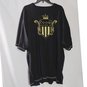 Coogi Australia Crown Black Street Wear Shirt 4X